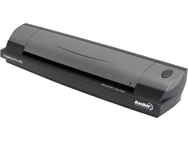 Ambir ImageScan Pro 490i DS490-AS 48bit CIS Duplex 600 dpi ID Card & Document Scanner with AmbirScan