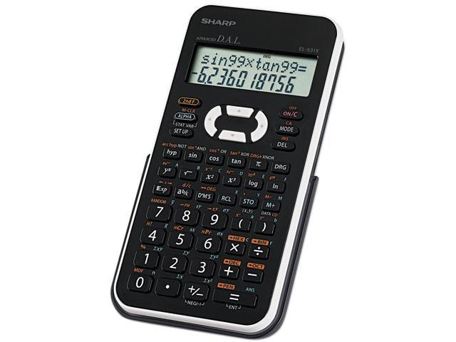 Sharp® EL-531XBWH Scientific Calculator, 12-Digit LCD