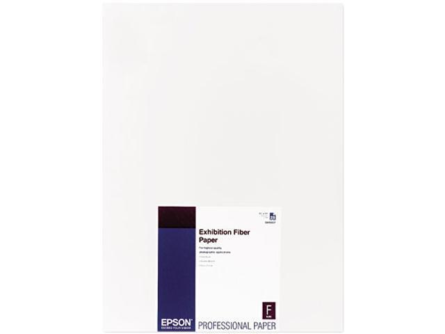 Epson Exhibition Fiber Paper, Micro Porous Smooth Gloss, 13 x 19, White, 25 Sheets