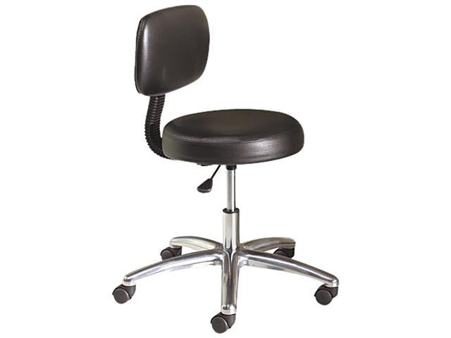 HON MTS11EA11 Medical Exam Stool with Back, 24-1/4 x 27-1/4 x 36, Black