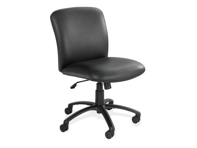 Safco 3491BV Uber Series Big/Tall Swivel/Tilt Mid-Back Chair, Vinyl, Black