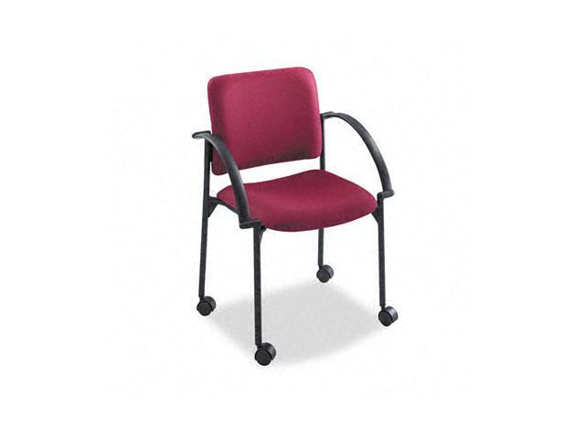 Safco 4184BG Moto Stacking Chairs, Burgundy Fabric Upholstery, 2/Carton