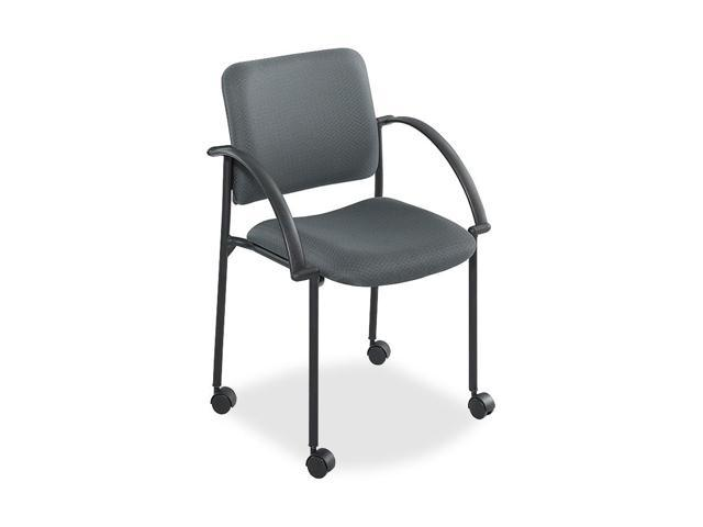 Safco 4184CH Moto Stacking Chairs, Gray Fabric Upholstery, 2/Carton