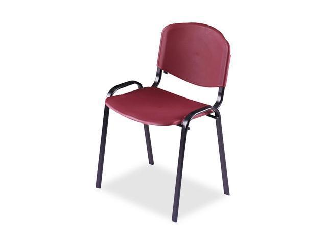 Safco 4185BG Contour Stacking Chairs, Burgundy w/Black Frame, 4/Carton