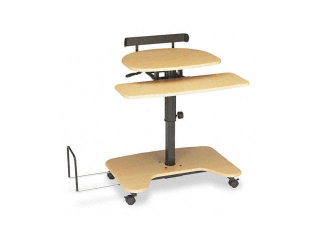 BALT 46572 Hi-Hi-Lo Adjustable Pneumatic Workstation, 39-1/2w x 31-1/4d x 39-1/4h, Teak