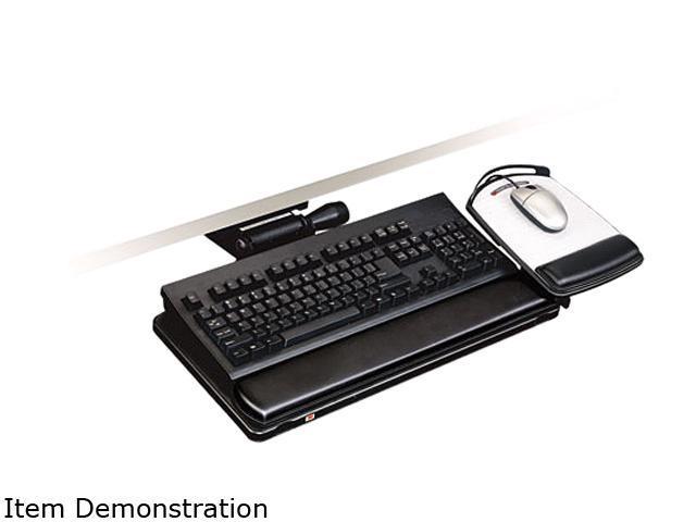 3M AKT150LE Easy Adjust Keyboard Tray, 19-1/2 x 10-1/2, Black