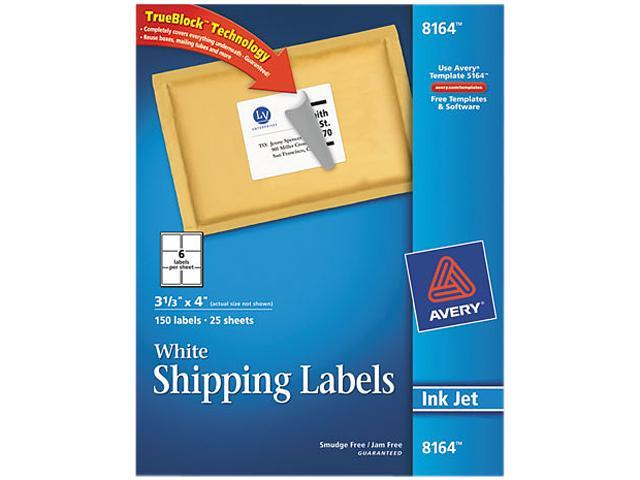 avery 8164 shipping labels with trueblock technology 3 1 3 x 4