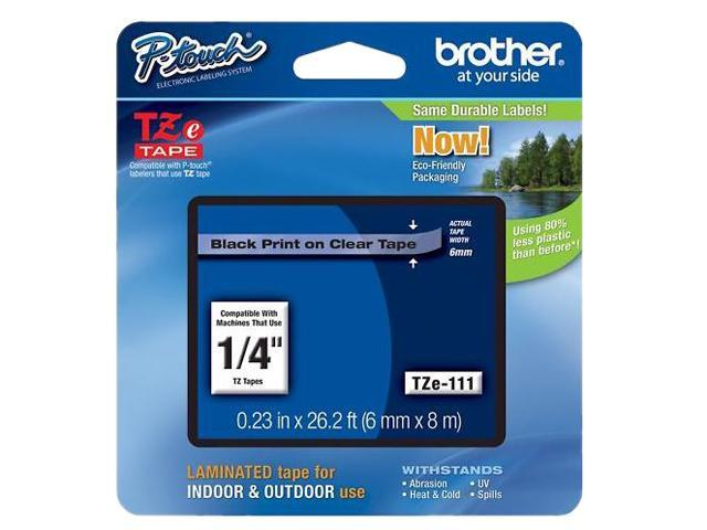 Brother P-Touch TZ Series Tape Cartridge, 0.25
