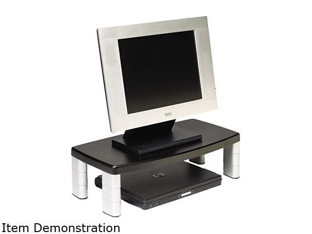 3M MS90B Extra-Wide Adjustable Monitor Stand, Black
