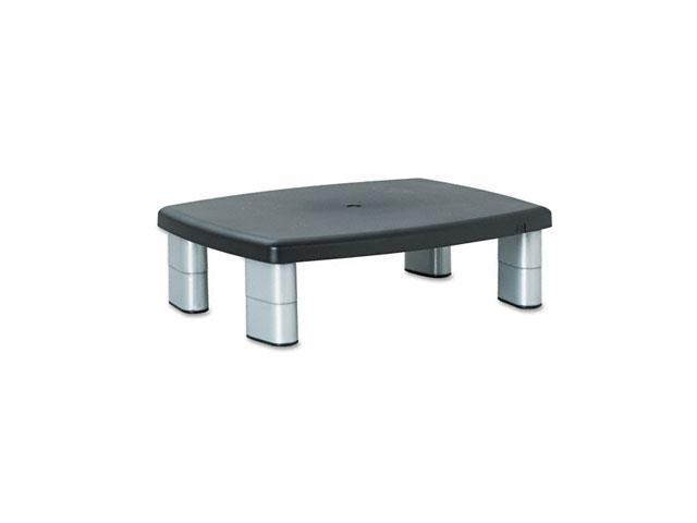 3M MS80B Adjustable Height Monitor Stand, 12 x 15 x 1-5 7/8, Black/Silver