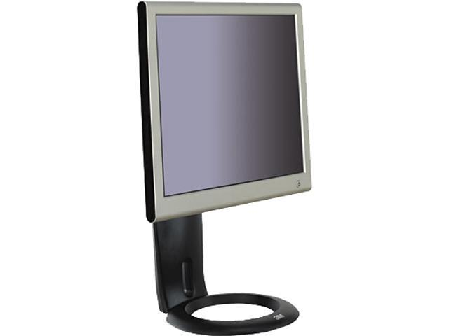 3M MS110MB Easy-Adjust LCD Monitor Stand, 8 1/2 x 5 1/2 x 16, Black
