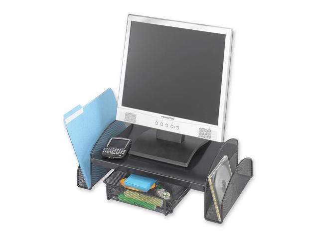 Safco 2159BL Onyx Mesh Steel Monitor Stand, 19 1/2 x 11 x 6 1/4, Black