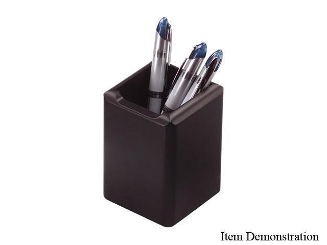 Rolodex Wood Tones Pencil Cup, Black