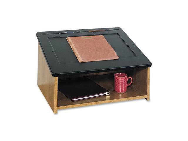 Safco 8916MO Tabletop Lectern - Medium Oak - Wood - 24