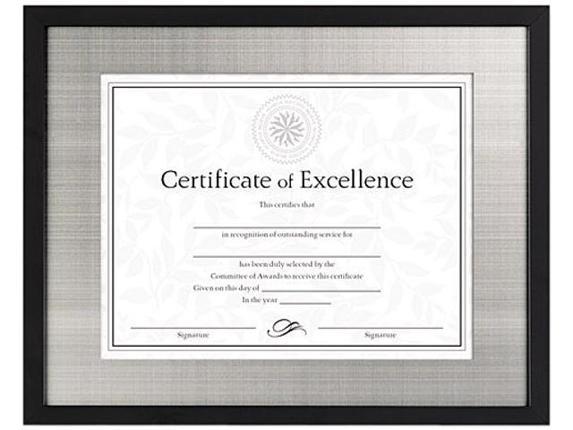 DAX N15788ST Contemporary Wood Document/Certificate Frame