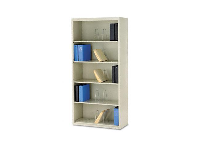 HON J625CNL 600 Series Jumbo Open File, 5-Shelf, Steel, Lgl, 36w x 16-3/4d x 75-7/8h, Putty