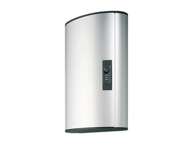 Durable Combination Locking Key Cabinet, 36-Key Tag Capacity, Brushed Aluminum
