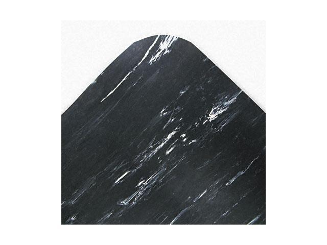 Crown Cushion-Step Mat, Rubber, 36 x 72, Marbleized Black