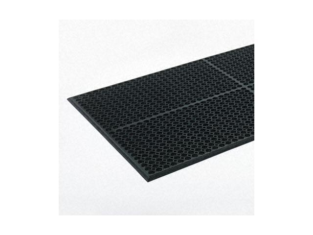 Crown Safewalk-Light Heavy-Duty Anti-Fatigue Mat, Rubber, 36 x 60, Black