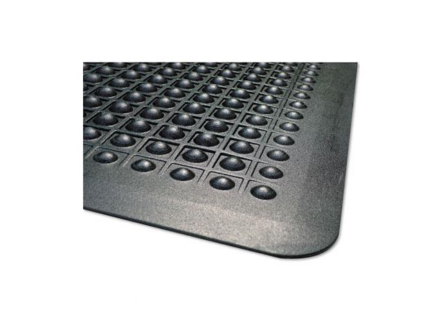 Guardian FlexStep Rubber Anti-Fatigue Mat, Polypropylene, 24 x 36, Black
