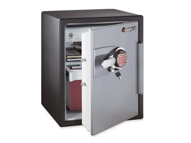 Electronic Safe, 2 ft3, 18-19/32w x 19-5/16d x 23-3/4h, Black/Gunmetal Gray