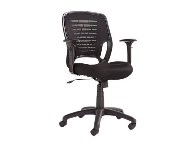Alera ALEEK4817 Eikon Series Swivel/Tilt Mesh Task Chair, Black Arms/Base, Black