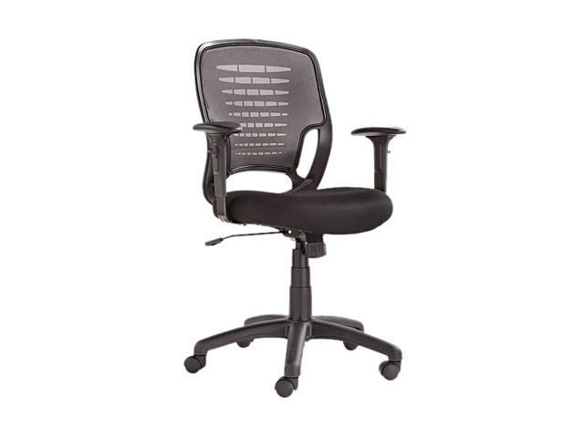 Alera ALEEK4847 Eikon Series Swivel/Tilt Mesh Task Chair, Black Arms/Base, Gray