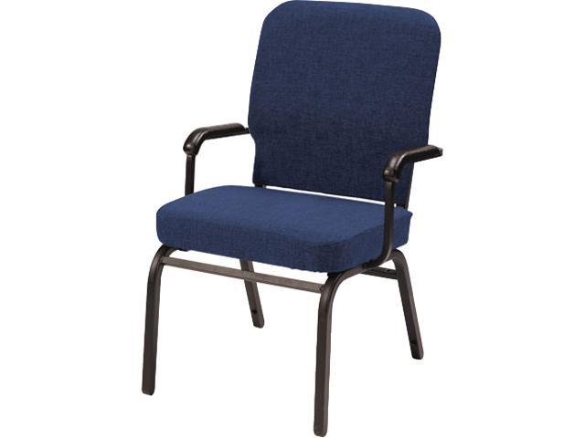 Alera HTB1041SB-3301 Oversize Stack Chair With Arms, Navy Fabric Upholstery