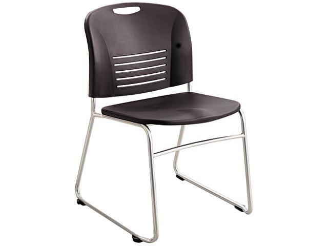 Safco 4292BL Vy Sled Base Stack Chairs