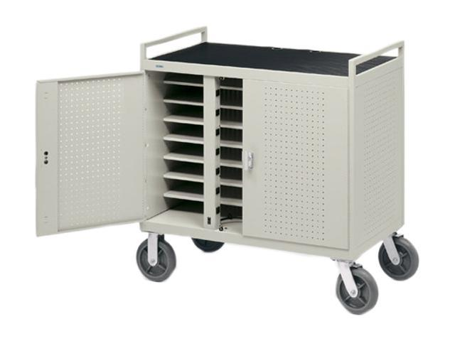 Bretford LAP24EULFR-GM UL Listed Fully Assembled 24 Unit Laptop Computer Cart w/Electrical In Front