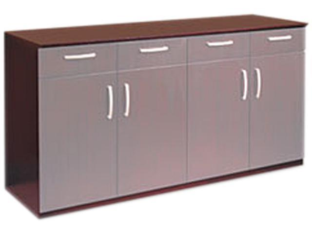 Wood Veneer Buffet Credenza Cabinet Only, 72w x 22d x 36h, Mahogany