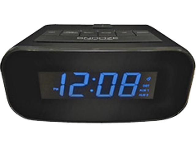 Geneva Clock Company 4238AT Electric LCD Alarm Clock with USB Charger