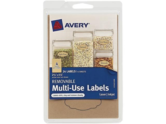 Avery 40151 Removable Multi-Use Labels, Kraft Brown, 1-1/8