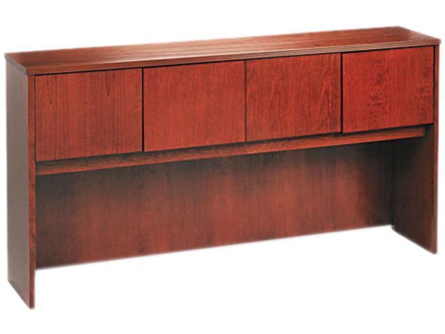 72W x 14-5/8D x 37-1/8H BW Veneer Series Bourbon Cherry Hutch with Wood Doors