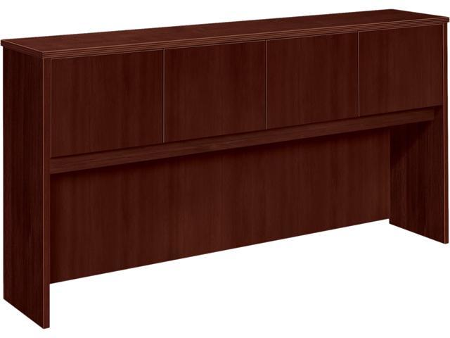 72W x 14-5/8D x 37-1/8H BW Veneer Series Mahogany Hutch with Wood Doors