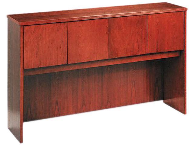 60W x 14-5/8D x 37-1/8H BW Veneer Series Bourbon Cherry Hutch with Wood Doors
