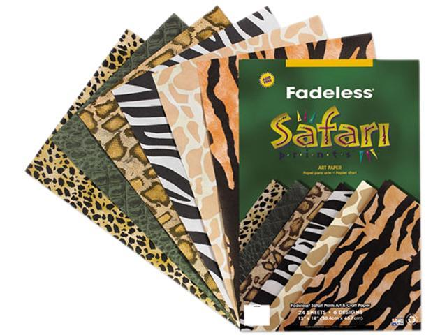 Pacon 57770 Fadeless Safari Prints Paper, 50 lbs., 12 x 18, 24 Sheets/Pack