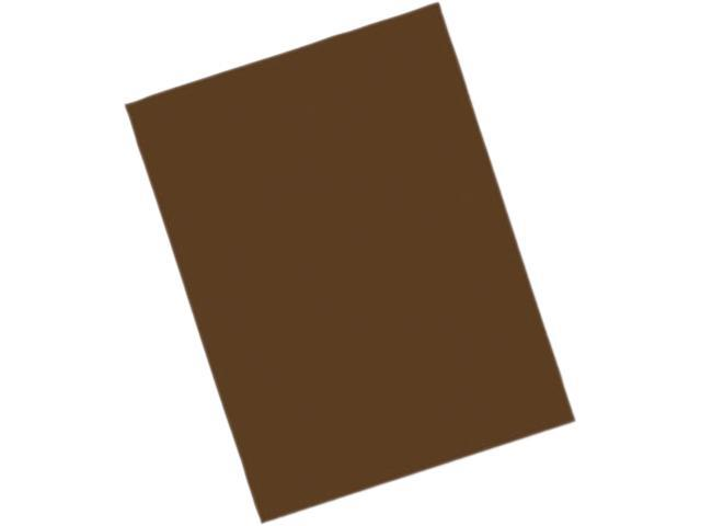 Pacon 103606 Riverside Construction Paper, 76 lbs., 9 x 12, Dark Brown, 50 Sheets/Pack