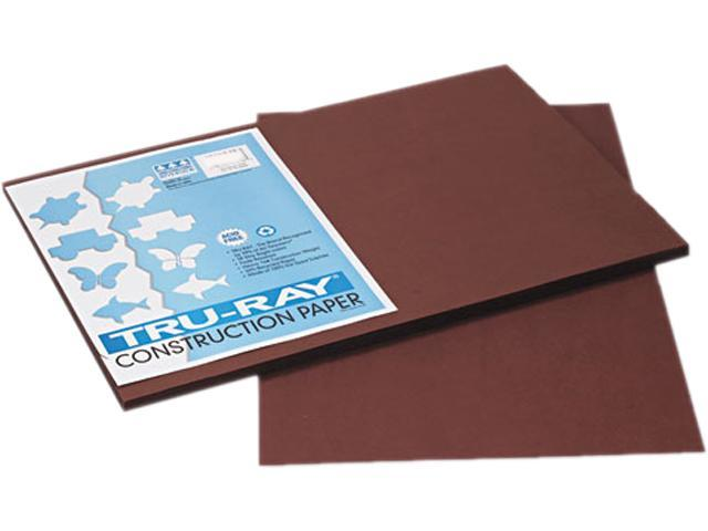 Pacon 103056 Tru-Ray Construction Paper, 76 lbs., 12 x 18, Dark Brown, 50 Sheets/Pack