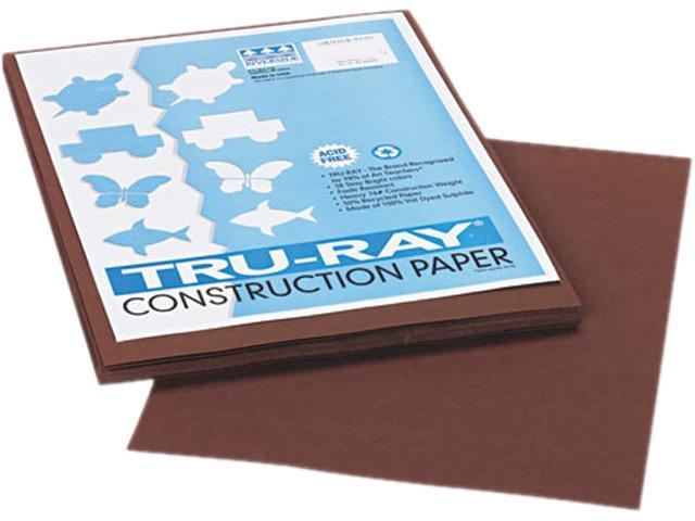 Pacon 103024 Tru-Ray Construction Paper, 76 lbs., 9 x 12, Dark Brown, 50 Sheets/Pack