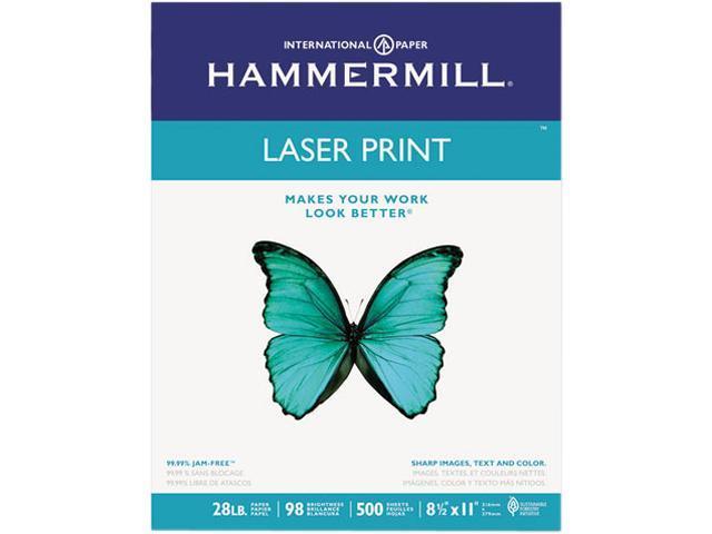 Hammermill 12553-4 Laser Print Office Paper, 98 Brightness, 28lb, 8-1/2 x 11, White, 500 Shts/Ream