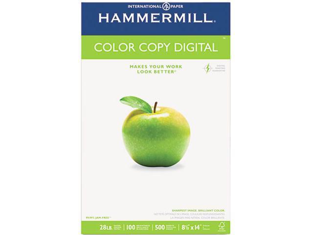Hammermill 10247-5 Color Copy Paper, 100 Brightness, 28lb, 8-1/2 x 14, Photo White, 500/Ream