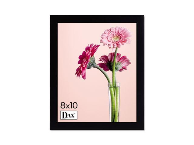 DAX 1826L3T Solid Wood Photo/Picture Frame, Easel Back, 8 x 10, Black