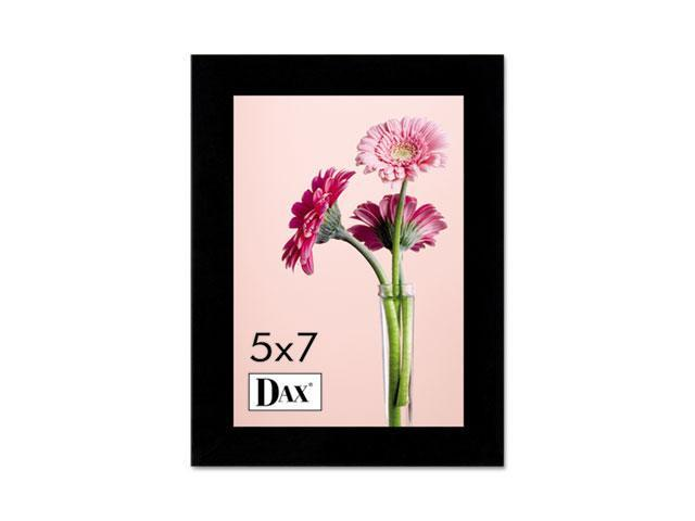 DAX 1826H3T Solid Wood Photo/Picture Frame, Easel Back, 5 x 7, Black