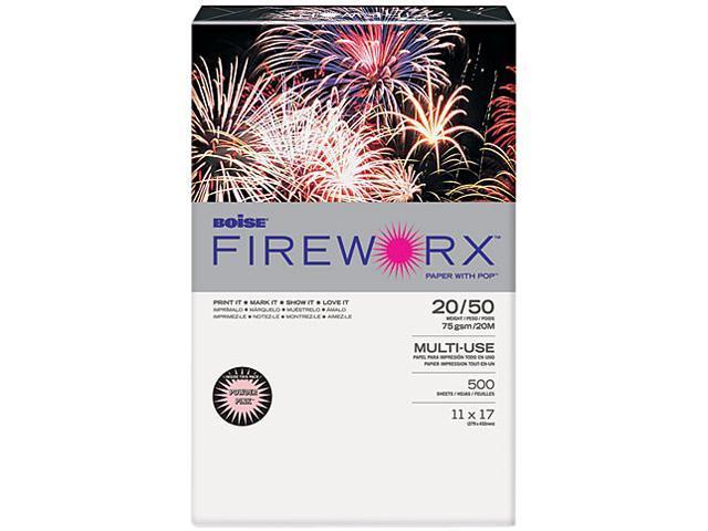 Boise MP2207PK FIREWORX Colored Paper, 20lb, 11 x 17, Powder Pink, 500 Sheets/Ream