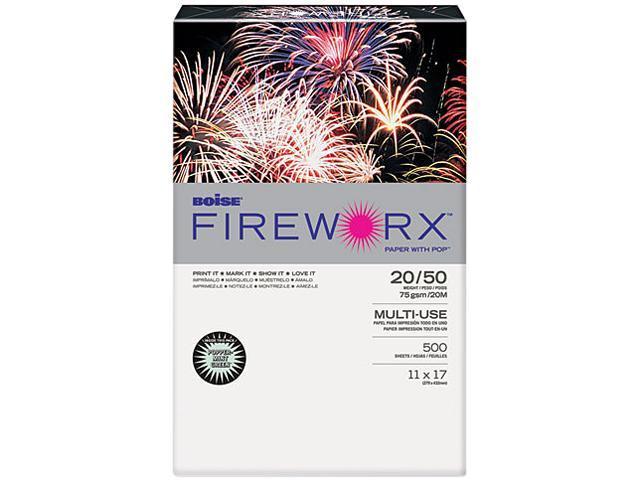 Boise MP2207GN FIREWORX Colored Paper, 20lb, 11 x 17, Popper-mint Green, 500 Sheets/Ream