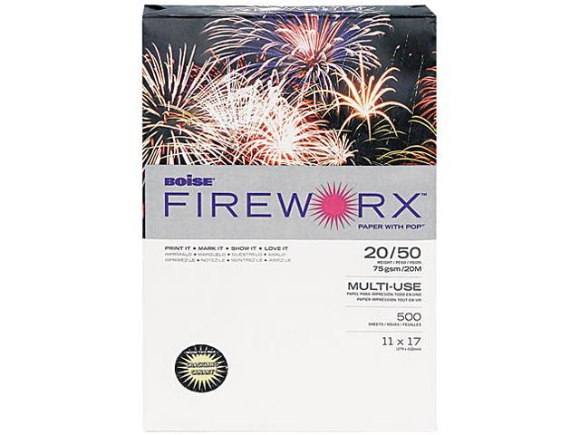 Boise MP2207CY FIREWORX Colored Paper, 20lb, 11 x 17, Crackling Canary, 500 Sheets/Ream