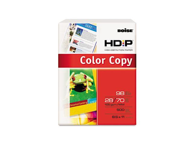 Boise BCP-2811 HD:P Color Copy Paper, 98 Brightness, 28lb, 8-1/2 x 11, White, 500 Sheets/Ream