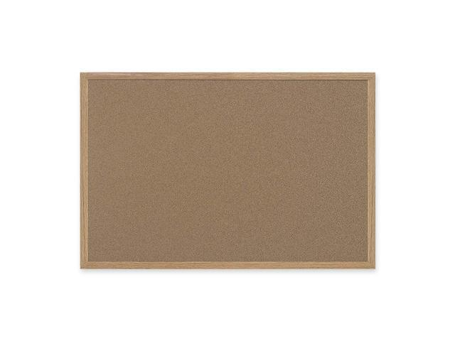 Bi-Silque Earth-It Cork Board, 48 x 72, Oak Frame