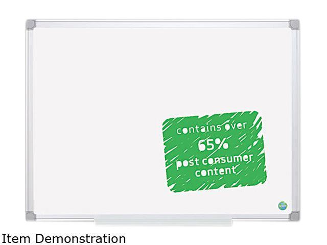 Bi-Silque Easy Clean Melamine Board, 36 x 48, Aluminum Frame